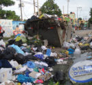 REDACCIÓN DELAZONAORIENTAL. NET Santo Domingo Norte.- Las principales vías del municipio Santo Domingo Norte, amanecieron con mucha basura, lo que pudo observarse en las esquinas de las diferentes avenidas y […]